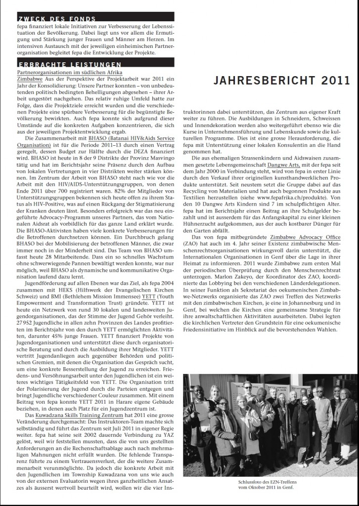 fepa Jahresbericht 2011