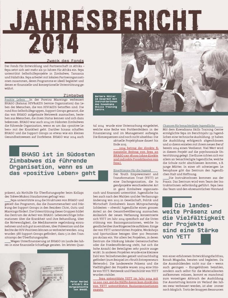 fepa Jahresbericht 2014