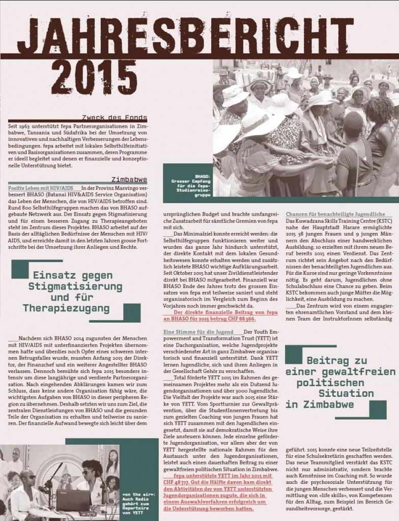 fepa Jahresbericht 2015