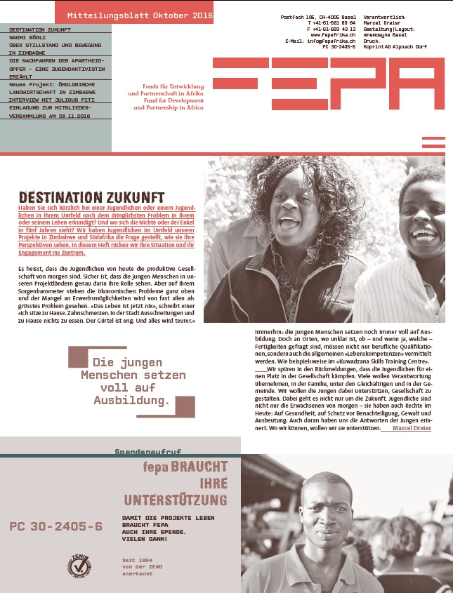 fepa Mitteilungsblatt Oktober 2016